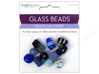 Multicraft Beads Glass Lampwork Blue 1.05oz
