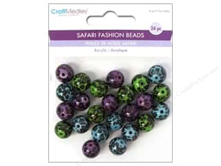 Multicraft Beads Safari Fashion Leopard 2 24pc