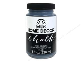 Home Decor Black: Plaid FolkArt Home Decor Chalk Paint 8 oz. Black