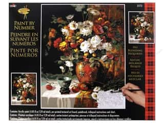 Weekly Specials Paint: Plaid Paint By Number 16 x 20 in. Mums & Persimmons