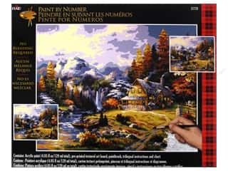 Outdoors $16 - $20: Plaid Paint By Number 16 x 20 in. Mountain Hideaway