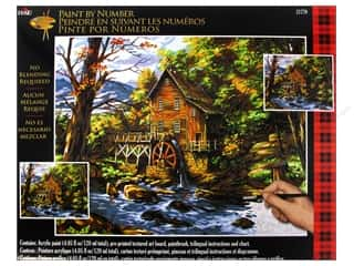 Outdoors $16 - $20: Plaid Paint By Number 16 x 20 in. Rocky Creek Mill
