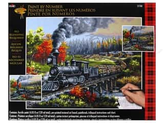 Weekly Specials Paint: Plaid Paint By Number 16 x 20 in. Logging Camp Run