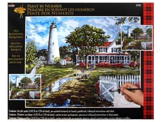 "Crafting Kits Plaid Paint By Number: Plaid Paint By Number 16""x 20"" Ocracoke Lighthouse"