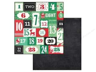 Christmas ABC & 123: Echo Park 12 x 12 in. Paper Christmas Cheer Collection Countdown (25 sheets)