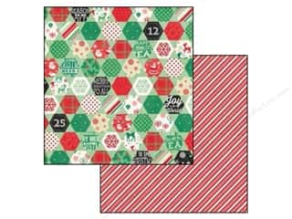 Cozy Quilt Designs: Echo Park 12 x 12 in. Paper Christmas Cheer Collection Cozy Quilt (25 pieces)