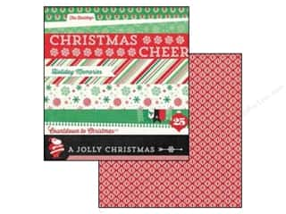 Echo Park 12 x 12 in. Paper Christmas Cheer Border Strips (25 piece)