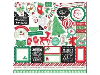 Labels Christmas: Echo Park Sticker 12 x 12 in. Christmas Cheer Collection Elements (15 sets)