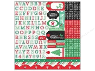 Echo Park Sticker 12 x 12 in. Christmas Cheer Alpha (15 set)