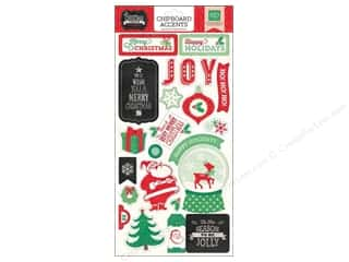 "Boards $6 - $12: Echo Park Christmas Cheer Collection Chipboard 6""x 12"""