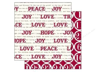 Holiday Sale Printed Cardstock: Echo Park 12 x 12 in. Paper Home For The Holidays Collection Good Tiding Words (25 sheets)