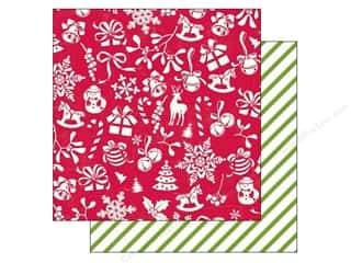 Holiday Sale Printed Cardstock: Echo Park 12 x 12 in. Paper Home For The Holidays Collection Deck The Halls (25 sheets)