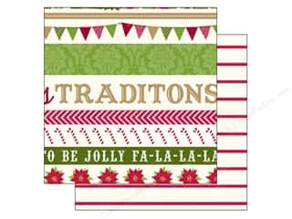 Holiday Sale Printed Cardstock: Echo Park 12 x 12 in. Paper Home For The Holidays Collection Border Strip (25 sheets)