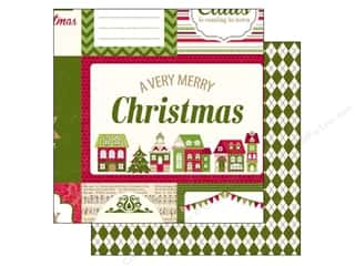 Holiday Sale Printed Cardstock: Echo Park 12 x 12 in. Paper Home For The Holidays Collection Journaling Cards (25 sheets)