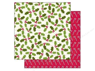 Echo Park Paper Company Family: Echo Park 12 x 12 in. Paper Home For The Holidays Collection Holly Berries (25 pieces)