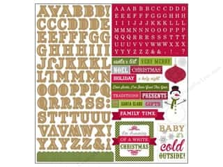 ABC & 123 Holiday Sale: Echo Park Sticker 12 x 12 in. Home For The Holidays Collection Alpha (15 sets)