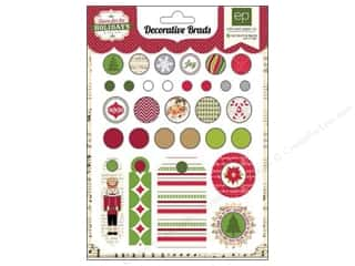 Echo Park Paper Company Chipboard: Echo Park Home For The Holidays Collection Brads