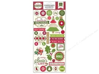 Echo Park Paper Company Echo Park Chipboard: Echo Park Adhesive Chipboard 6 x 12 in. Home For The Holidays