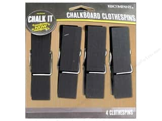 K&Co Chalk It Now Chalkboard Clothespins Large