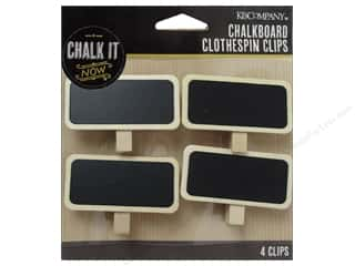 K&Co Chalk It Now Chalkboard Clothespins Clips