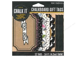 K&Co Chalk It Now Chalkboard Tags Gift