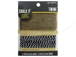 New Ribbons: K&Company Chalk It Now Twine Black/Natural