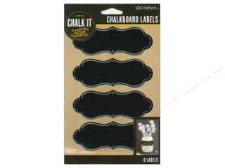 Borders New: K&Company Chalk It Now Chalkboard Labels Deco Shape