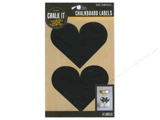 K&Co Chalk It Now Chalkboard Label Heart