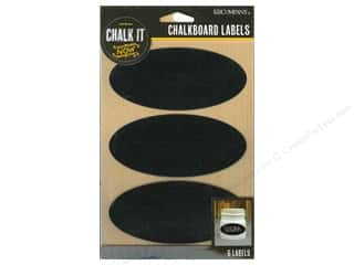 Borders New: K&Company Chalk It Now Chalkboard Labels Oval Black