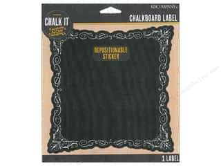 Erasers Borders: K&Company Chalk It Now Chalkboard Label Deco Shape
