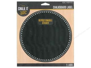 School New: K&Company Chalk It Now Chalkboard Label Decorative Circle
