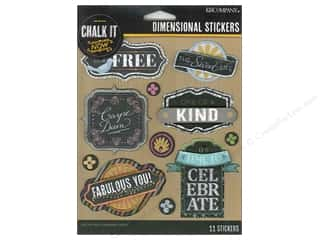 Scrapbooking Dimensional Stickers: K&Company Chalk It Now Sticker Dimensional