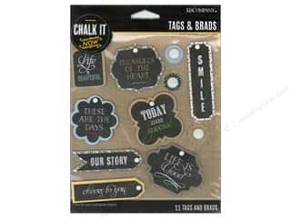 K&Co Chalk It Now Tags and Brads