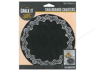 K&Co Chalk It Now Chalkboard Coasters Ornate