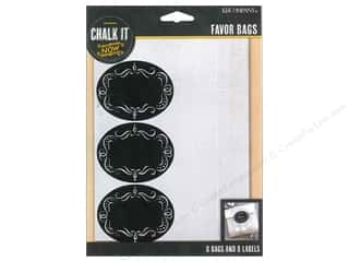 Chalk $6 - $8: K&Company Chalk It Now Bags Glassine Chalkboard Label