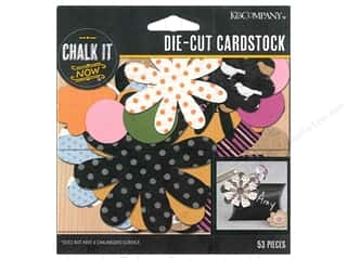 Flowers New: K&Company Chalk It Now Flowers Pattern and Black