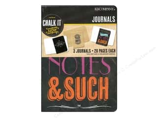 Scribbles Black: K&Company Chalk It Now Mini Journals