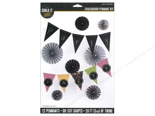 K&Co Chalk It Now Chalkboard Pennant Kit