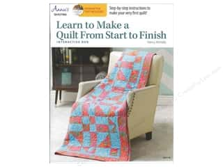 "Books & Patterns 11"": Annie's Learn To Make A Quilt From Start To Finish Book with Interactive DVD by Nancy McNally"