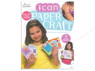 Kid Crafts paper dimensions: Annie's I Can Paper Craft Book