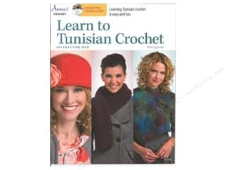 tunisian: Annie's Learn To Tunisian Crochet Book with Interactive DVD by Kim Guzman