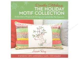 Lark Books $4 - $8: Lark Doodle Stitching The Holiday Motif Collection Book