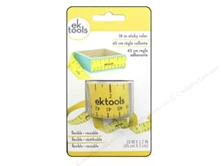 Measuring Tapes / Gauges: EK Tool Ruler Sticky 18""