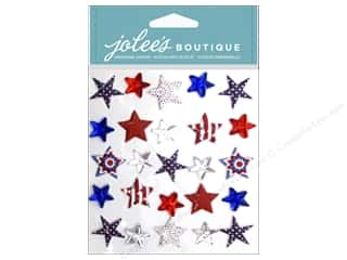 Memorial / Veteran's Day paper dimensions: EK Jolee's Boutique Patriotic Stars