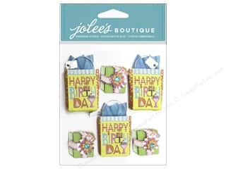 Gifts paper dimensions: EK Jolee's Boutique Repeat Birthday Gifts