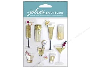 Party & Celebrations inches: Jolee's Boutique Stickers Champagne Flutes & Cocktails