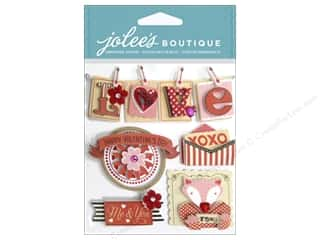 Craft Embellishments Hot: EK Jolee's Boutique Valentine Words