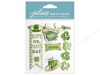 SRM Stickers St. Patrick's Day: EK Jolee's Boutique Irish Words and Phrases