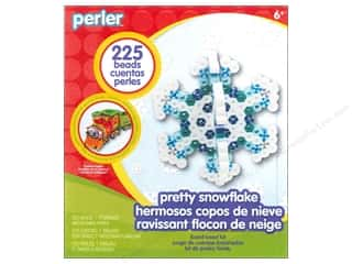 Crafting Kits Beading & Jewelry Making Supplies: Perler Fused Bead Kit Trial Pretty Snowflake