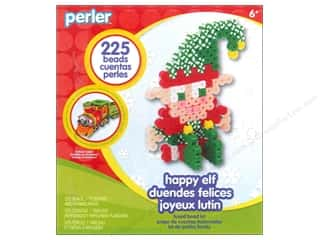 Kids Crafts Perler Fused Bead: Perler Fused Bead Kit Trial Happy Elf